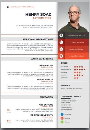 Gambaran CV dari freepik