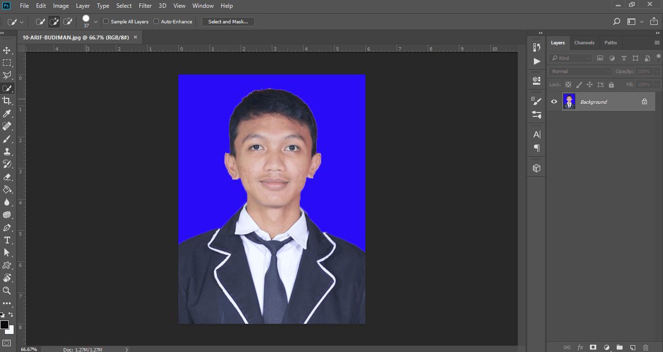 Gambar setelah membuka foto yang akan diedit