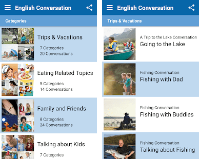 Gambar layar muka English Conversation Practice