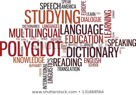 Ilustrasi aksara polygot dan belajar bahasa
