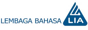 Logo LIa dengan latar putih dan biru