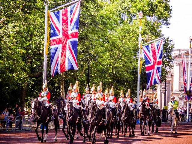 Ilustrasi upacara di Inggris
