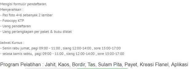 daftar tempat kursus menjahit Jakarta, Daftar tempat kursus menjahit Bandung, daftar tempat kursus menjahit surabaya, tempat kursus menjahit murah, tempat menjahit rekomendasi, saran tempat kursus